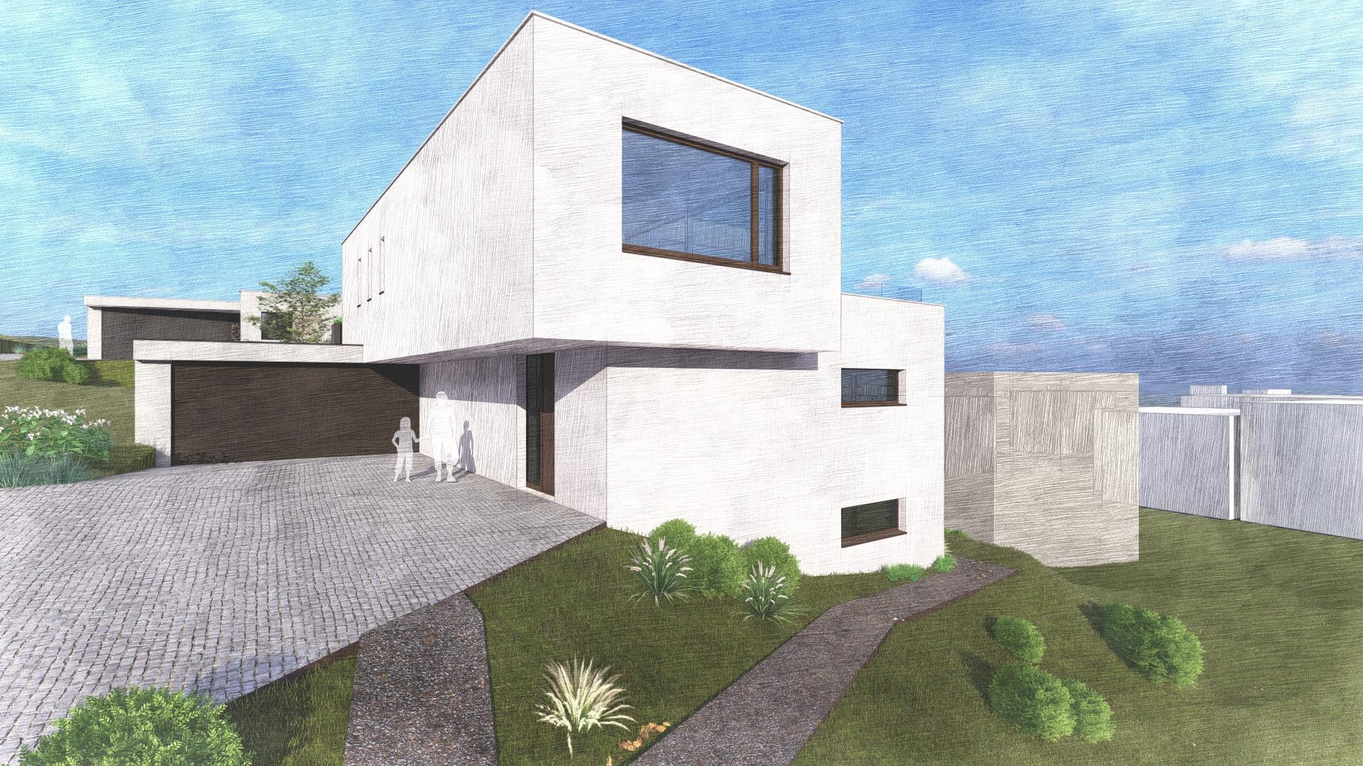 Haus 2 - Eingang-EFH-Lindenbächli-Uetliburg-MO-Architektur-Uznach-Linthgebiet-Ostschweiz-