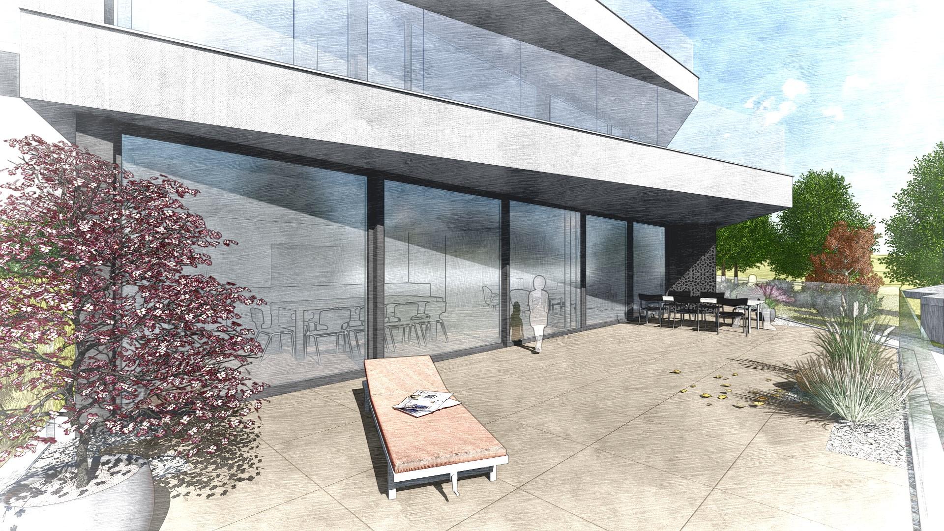MO-Architektur-Uznach-Linthgebiet-Ostschweiz-Terrassenhaus-Männedorf-Aussenansicht Islerenweg_23