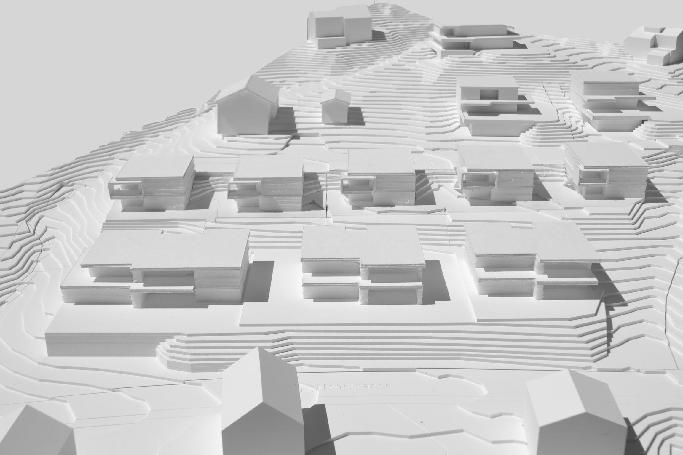 Obermettlen-Modellfoto_Quartier-Obermettle-Uetliburg-MO-Architektur-Uznach-Linthgebiet-Ostschweiz