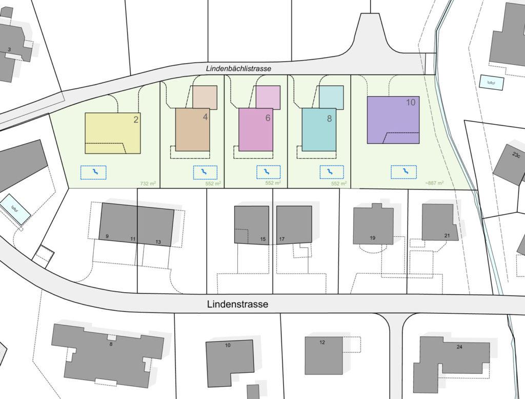 Situation Lindenbächli, Gommiswald