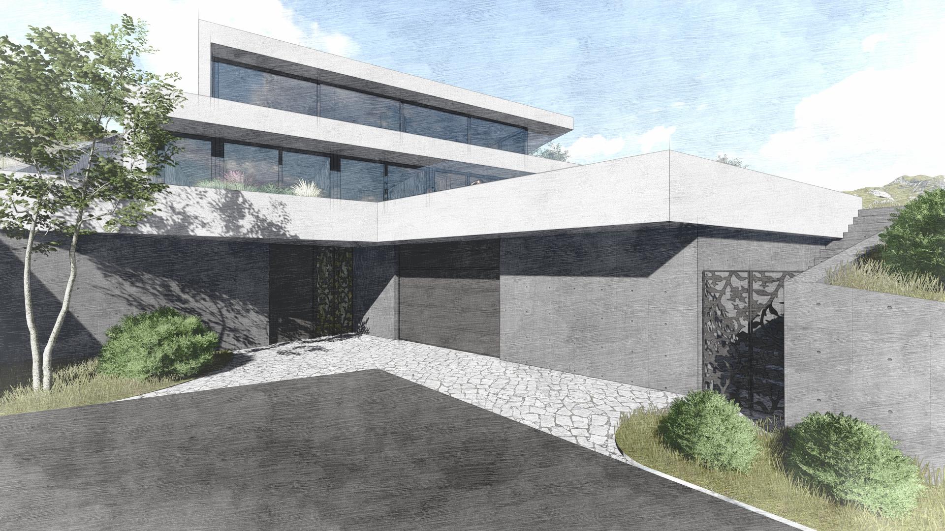 Villa Seeblick 27_Studie Entwurf Architekt